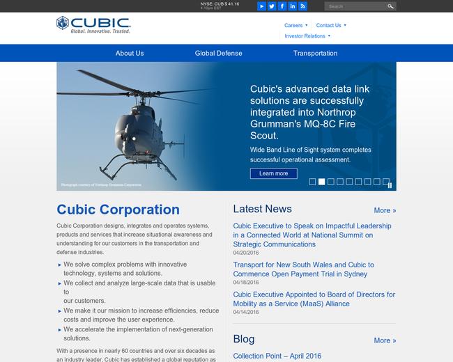 Cubic Defense Applications