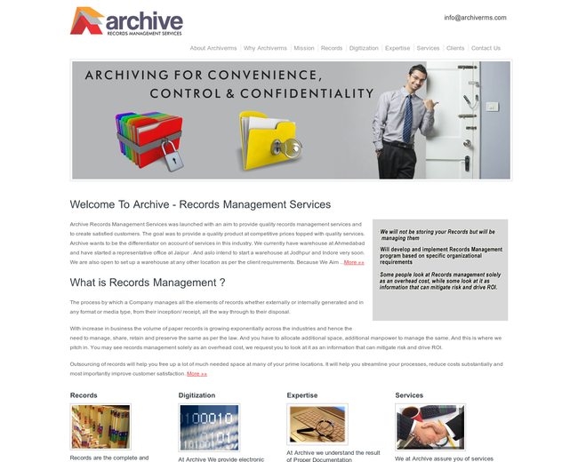 Archive Records Management Services