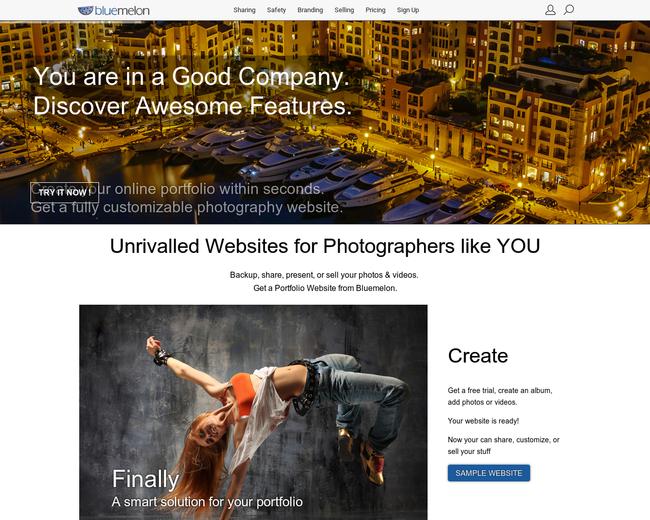BlueMelon Photo Websites