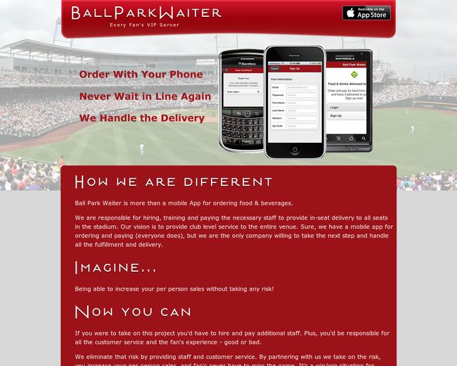 Ball Park Waiter