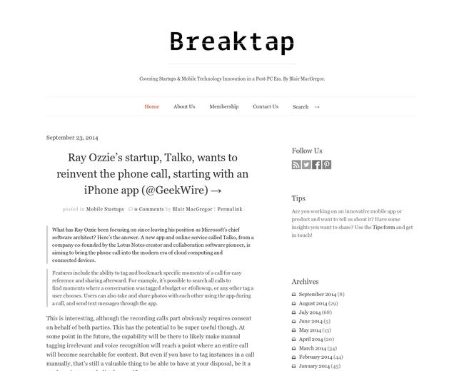 Breaktap