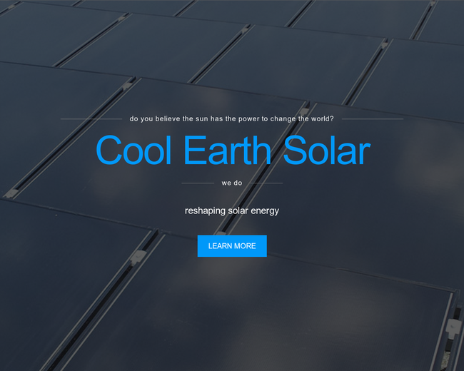 Cool Earth Solar