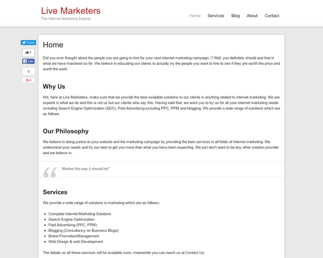 Live Marketers