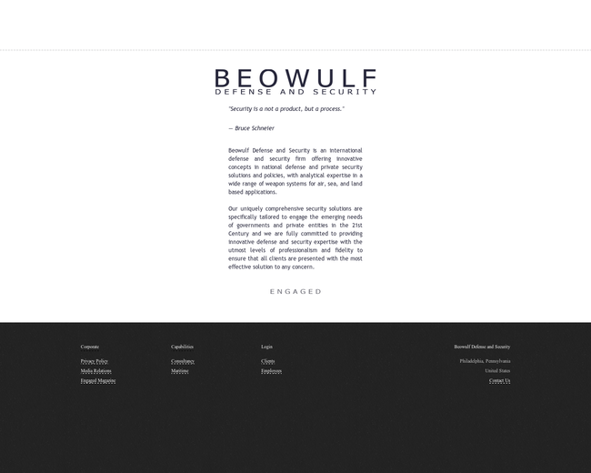 Beowulf Defense and Security