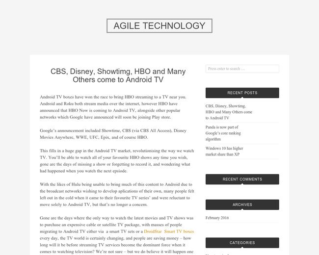 Agile Technologies