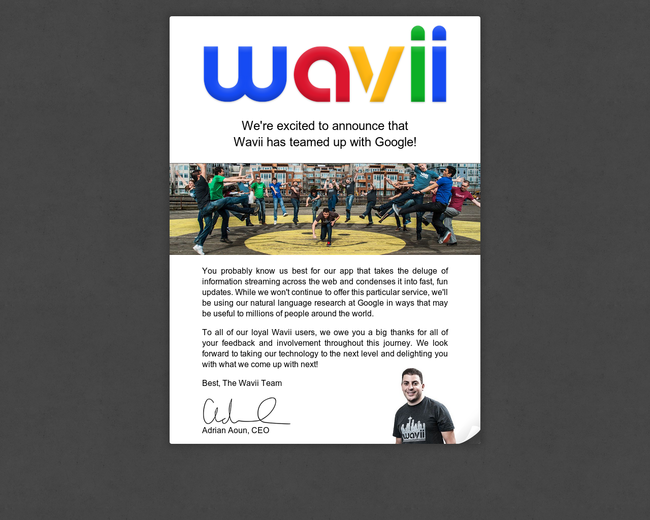 Wavii (acquired by Google)