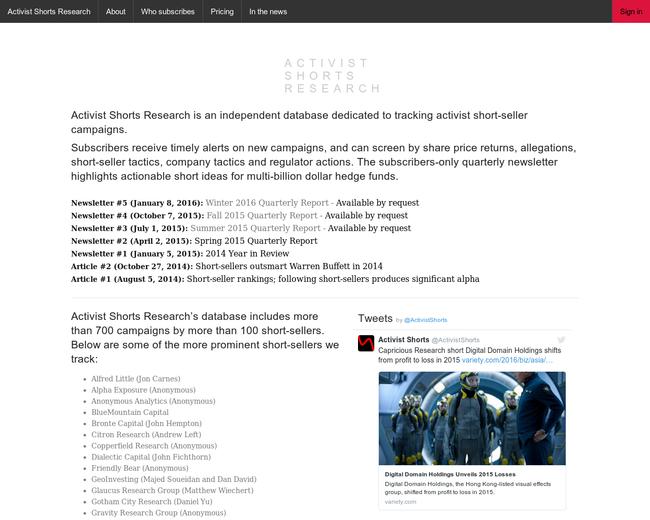 Activist Shorts Research