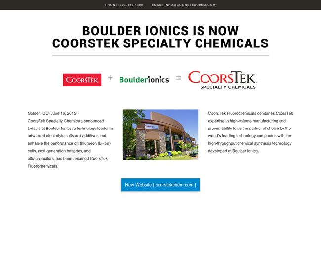 Boulder Ionics
