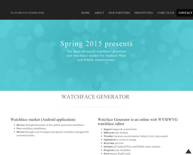 Watchface generator