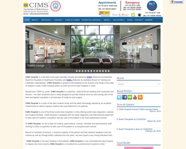 CIMS Hospital Ahmedabad