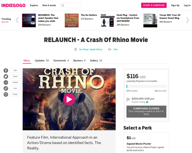 A Crash of Rhino Movie Campaign