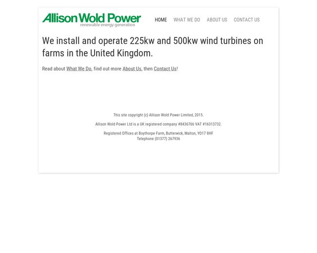 Allison Wold Power