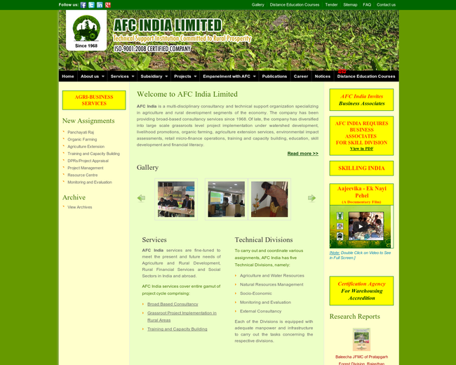 AFC India - Agri Business Consultancy