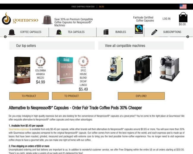 Coffee Capsules Inc. (Gourmesso USA)
