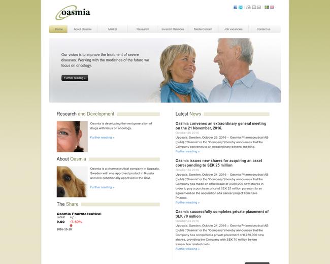 Oasmia Pharmaceutical
