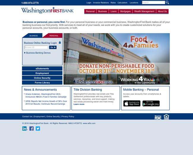 WashingtonFirst Bankshares