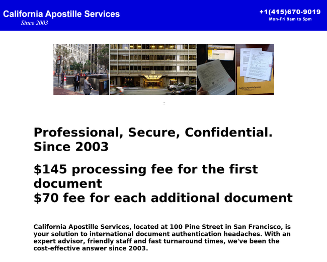 California Apostille Services