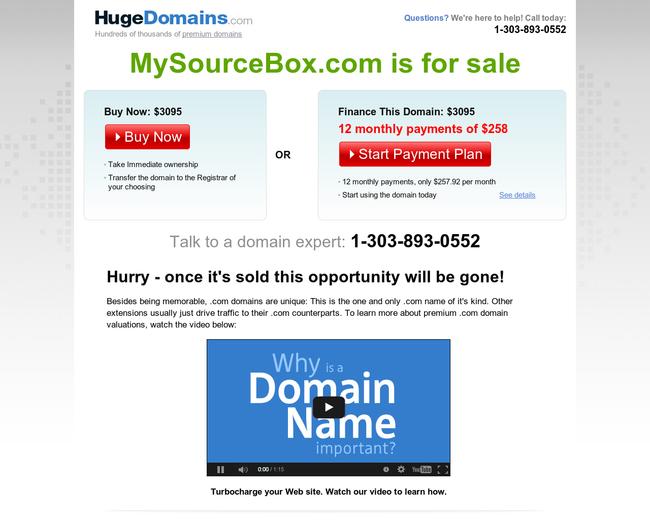My Sourcebox