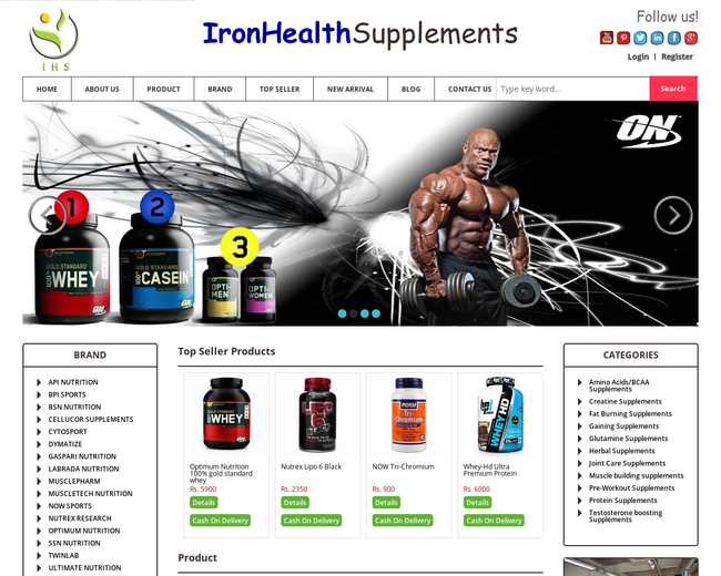 Iron Health Supplement
