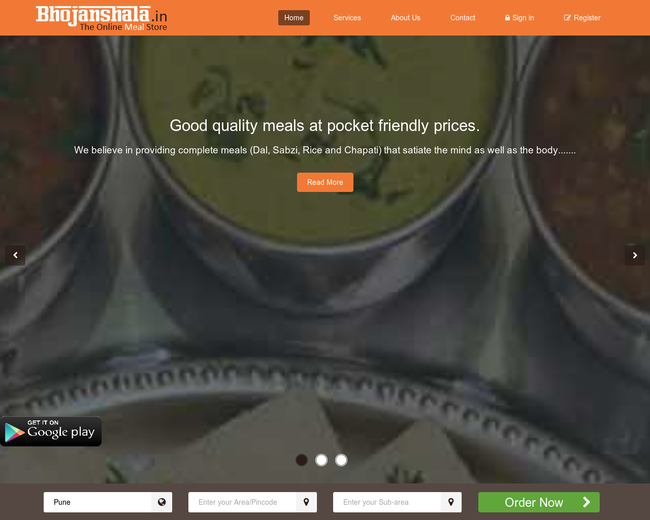 Bhojanshala.in- The online Meal store