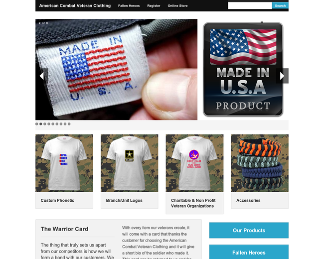 American Combat Veteran Clothing