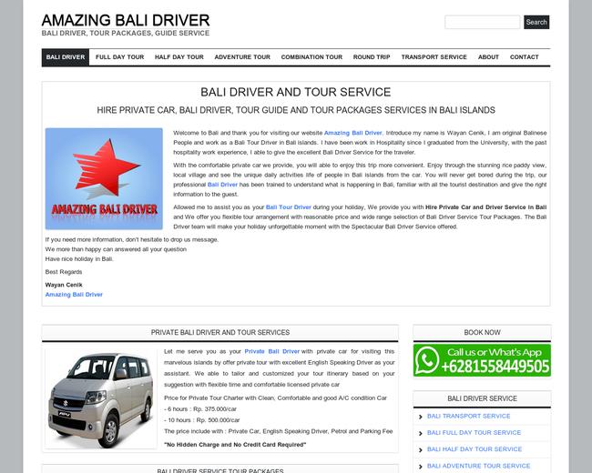 Amazing Bali Driver