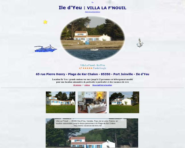 Villa La F'nouil - Ile d'Yeu