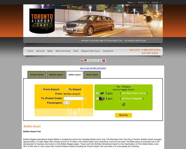 Buffalo Airport Taxi and Limo Service