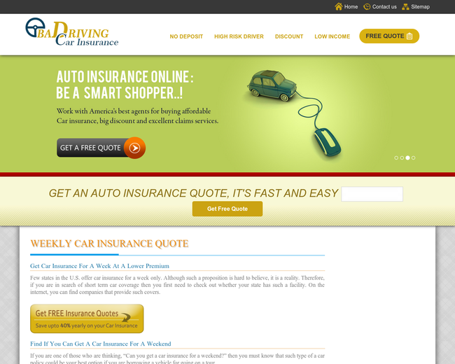 Bad Driving Car Insurance