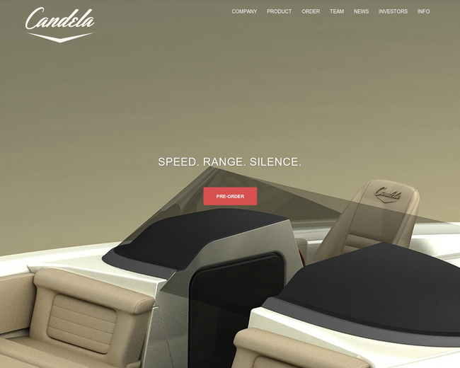 Candela Electric Speed Boat