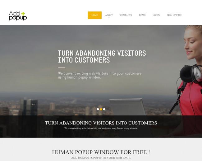 AddPopup.com - Human popup window