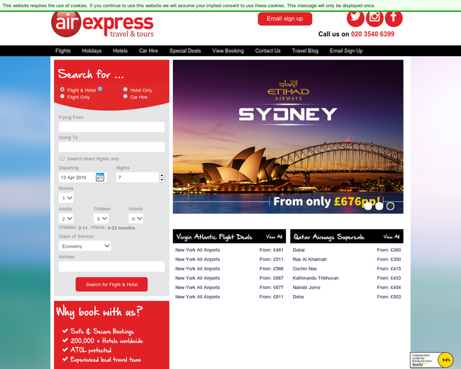 Air Express Travel & Tours (UK)