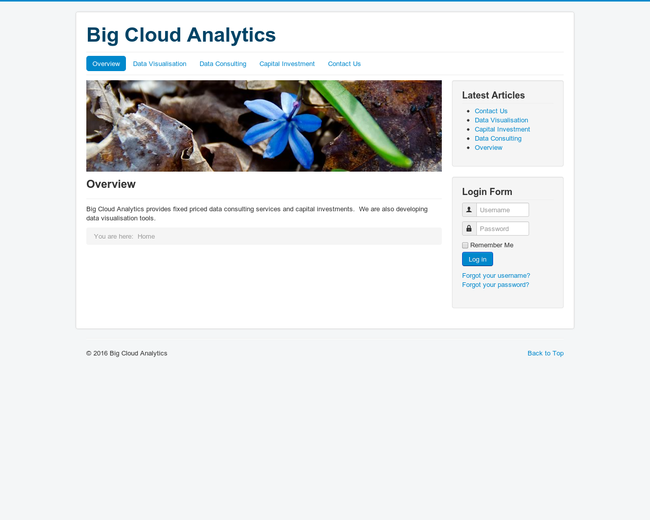 Big Cloud Analytics