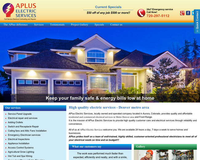 Aplus-electricservices