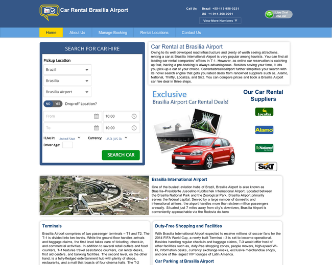 Car Rental at Brasilia Airport