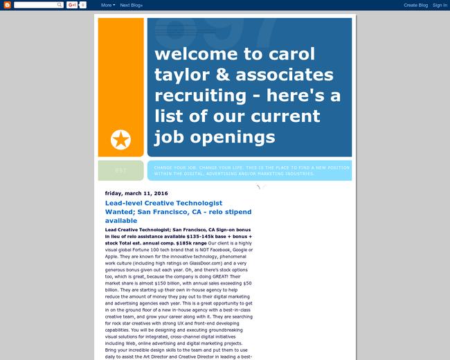 Carol Taylor & Associates Recruiting