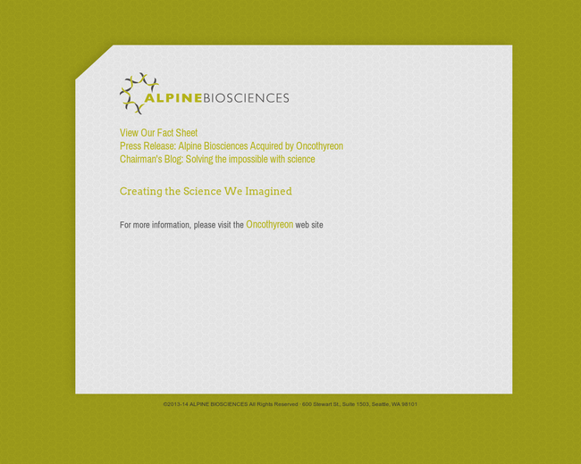 Alpine Biosciences