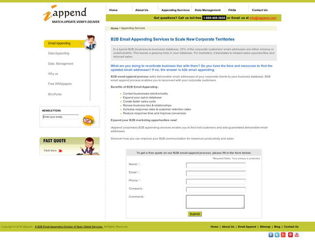 B2B Email Appending Services