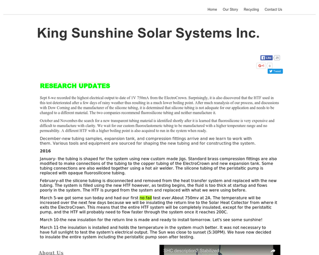 King Sunshine Solar Systems