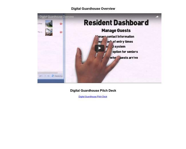Digital Guardhouse
