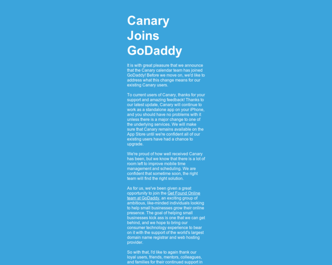 Canary Calendar