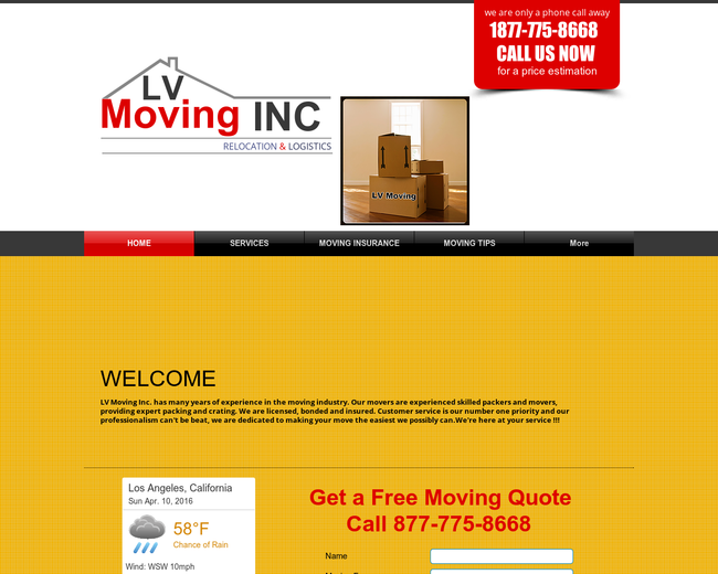 L V Moving Inc Los Angeles