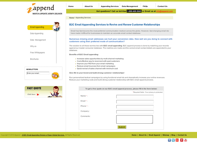 B2C Email Appending Services