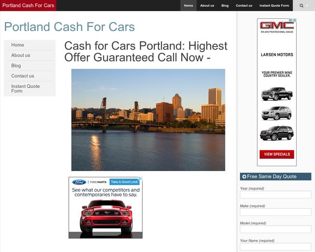 Cash For Junk Cars Portland