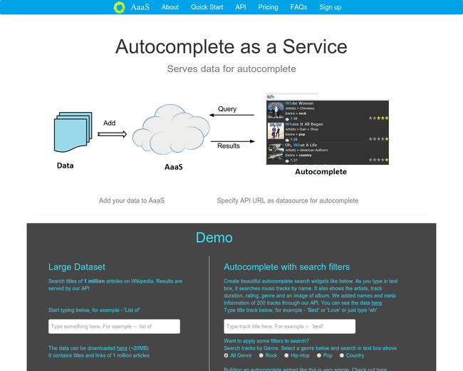 AaaS - Autocomplete as a Service