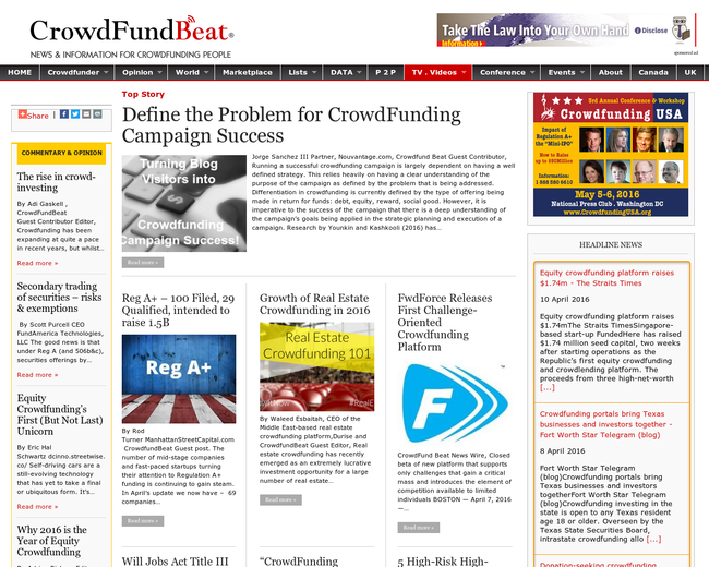 CrowdFund Beat Media Group