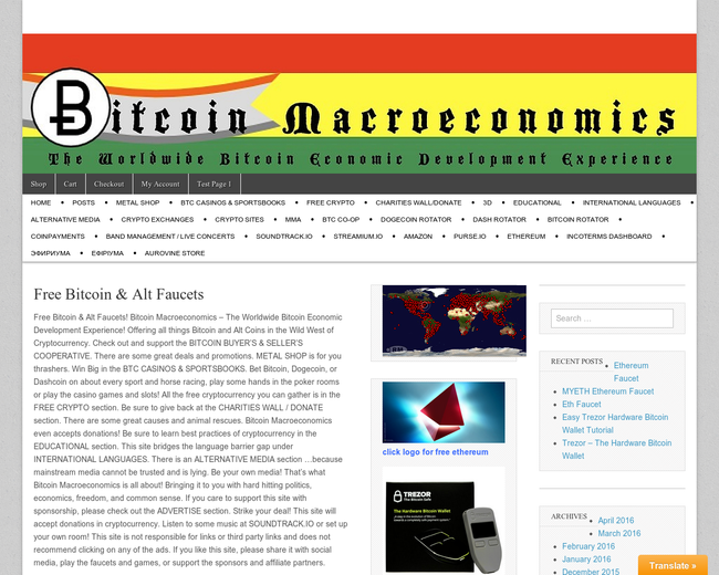 Bitcoin Macroeconomics