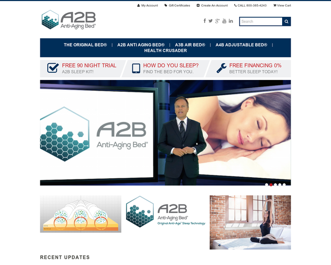 A2B Anti Aging Bed