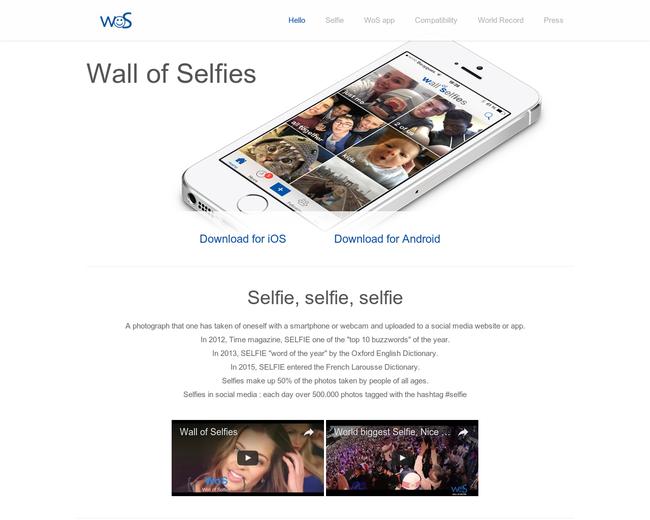Wall of Selfies