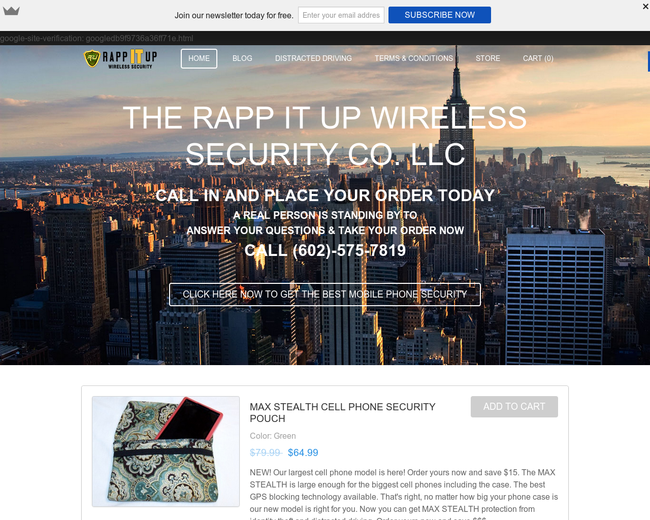 The Rapp IT Up Wireless Security Company